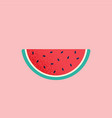 slice watermelon summer fruit vector image