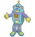 smiling robot vector image