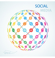 social media element icon sheme globe worldwide vector image vector image