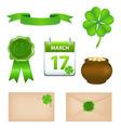 St Patrick's Day symbols vector image vector image