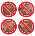 stop global earth pollution vector image vector image