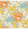 summer pattern on background colorful blots vector image vector image