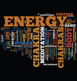 the body s energy centers text background word vector image vector image