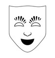 theatrichal mask icon vector image vector image