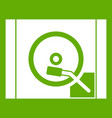turntable icon green vector image vector image