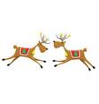 two christmas reindeers vector image