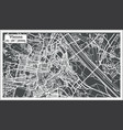 vienna austria map in retro style vector image