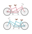 Vintage Tandem Bicycle Set vector image vector image