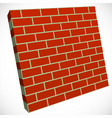wall in perspective brickwall for construction vector image