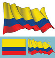 waving flag of colombia vector image vector image