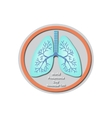 World Pneumonia Day - November 12 Lungs Baner vector image vector image