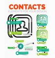 diagram elements set of contacts book vector image