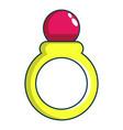princess ring icon cartoon style vector image