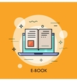 Electronic book icon digital reading concept vector image