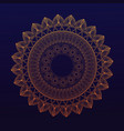 golden mandala symbol healing union vector image