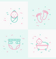 bacare thin line icons set vector image vector image