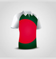 bangladesh flag shirt design vector image