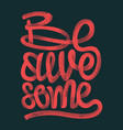 be awesome hand drawing lettering grunge t-shirt vector image vector image