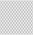 black seamless chain link fence background vector image vector image