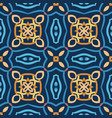 blue seamless pattern oriental design vector image vector image