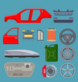 car service parts flat auto mechanic repair of vector image vector image