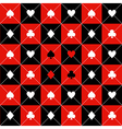 Card Suits Red Black Chess Board Diamond vector image vector image