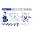 Chemistry hand drawing vector image