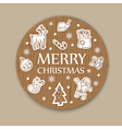 christmas woody background vector image vector image