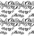 christmas words seamless pattern merry christmas vector image vector image