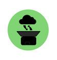 cloud computing black silhouette concept vector image