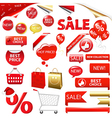 Collection Of Selling Badges vector image vector image