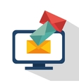 computer email envelope data vector image