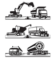 Construction and agricultural transportation vector image vector image