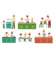 cooks childrens kids baking or cooking food vector image