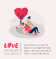 couple in love characters for poster banner vector image vector image