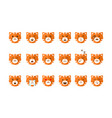 cute cat emoticons set funny kitten emoji with vector image