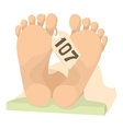 Dead body icon cartoon style vector image
