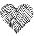 doodle heart shaped 3 vector image vector image