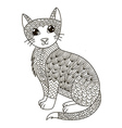 entangle cat for coloring page vector image