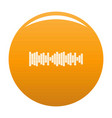 equalizer sound icon orange vector image vector image