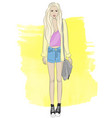 fashionable stylish girl vector image vector image
