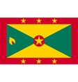 Flag of Grenada in correct size and colors vector image vector image