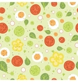 Fresh salad seamless pattern background vector image