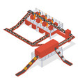 garbage processing concept 3d isometric view vector image vector image