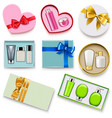 gift boxes with cosmetics set 2 vector image vector image