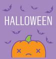 halloween card with kawaii pumpkin vector image vector image