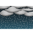 heavy rain and dark sky in 3d style vector image vector image