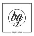 initial letter bg logo template design vector image