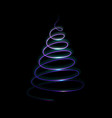 light christmas tree on dark background template vector image vector image