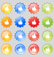Like Thumb up icon sign Big set of 16 colorful vector image vector image
